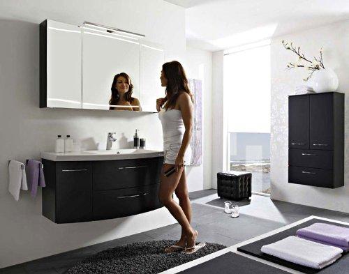 Pelipal Cassca 3 tlg. Badmöbel Set / Waschtisch / Unterschrank / Spiegelschrank inkl. Beleuchtung