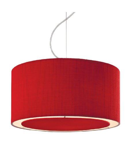 "Pendelleuchte 3-flammig ""Clio"" Farbe (Schirm): Rot"
