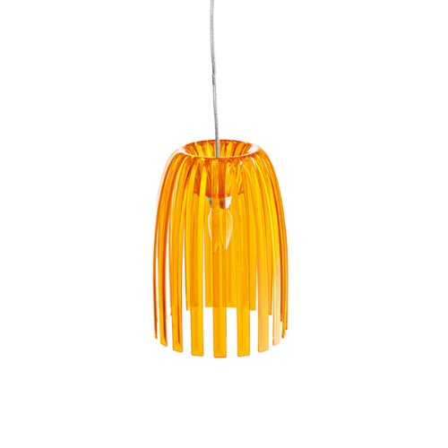 Pendelleuchte JOSEPHINE S transparent orange K1/2