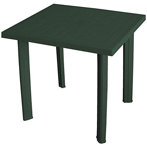 Pflegeleichter Gartentisch 80x75x72cm Kunststofftisch Campingtisch Balkontisch Gartenmöbel - Dunkelgrün