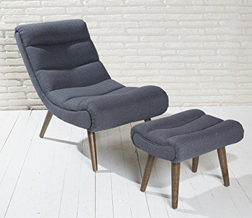 Polstersessel-dunkelgrau-mit-Hocker-mit-Holzbeinen-Loungesessel-Sessel-Cocktailsessel-Modern-Relaxsessel-0