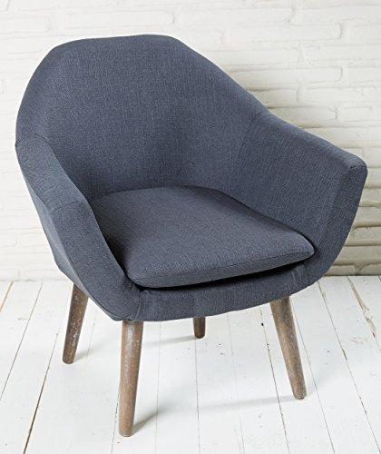 Polsterstuhl-grau-mit-Holzbeinen-Esszimmerstuhl-Esszimmersessel-Loungesessel-Sessel-Modern-0