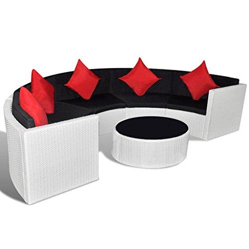Poly-Rattan-Gartenmbel-Lounge-Set-halbrund-wei-0