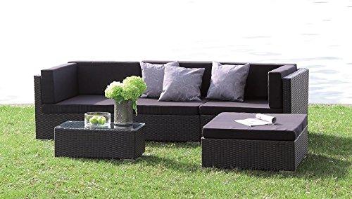 Poly-Rattan-Lounge-Set-Kampen-absolut-wetterfest-variable-Liegeflche-mit-wasserabweisenden-Kissen-von-Forma-Outdoor-Living-0