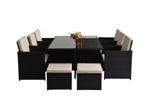 Polyrattan-Gartenmbel-27-tlg-Rattan-Gartenset-Essgruppe-Lounge-Sitzgruppe-Sofa-Loungembel-Garnitur-inkl-Kissen-Alu-Gestell-0