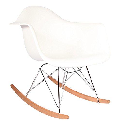 Promo Schaukelstuhl Design Inspiration Schaukelstuhl RAR Füße helles Holz Edelstahl Erwachsene-mobistyl® mobi-rarl himmelblau