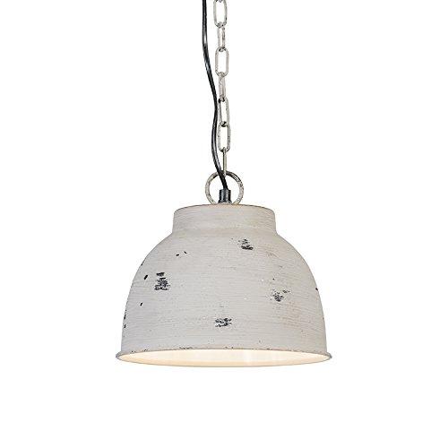 QAZQA-Industrie-Klassisch-Antik-Landhaus-Rustikal-Retro-Pendelleuchte-Vintage-S-verwittert-grau-Metal-Rund-fr-LED-geeignet-E27-Max-1-x-60-Watt-0