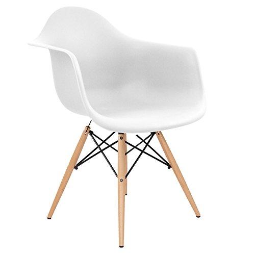 Retro inspiriert daw eames esszimmerstuhl eiffel lounge verschiedene farben wei m bel24 - Retro esszimmerstuhl ...