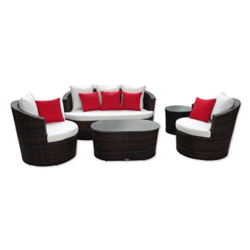 Rattan-Gartenmbel-Garten-Lounge-Set-rundes-Design-Braun-mit-schwarz-Wetterfest-Rostfreies-Aluminiumgestell-Kissenauflagen-10-cm-Rattan-Lounge-aus-Polyrattan-Sitzgruppe-Garnitur-hervorragende-Verarbeit-0