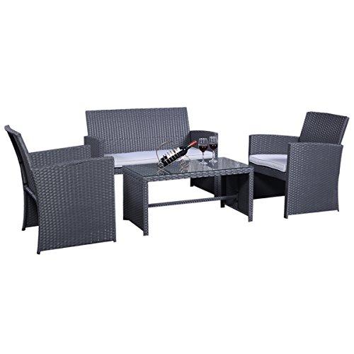 Rattanmbel-Set-Gartenmbel-Rattan-Lounge-Polyrattan-Sitzgruppe-Garnitur-Garten-grau-0
