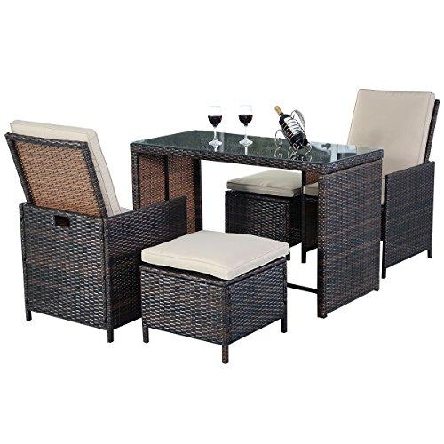Rattenmbel-Polyrattan-Gartenmbel-Sitzgruppe-Essgruppe-Gartengarnitur-Gartenset-Rattan-Lounge-Set-inkl-Kissen-0