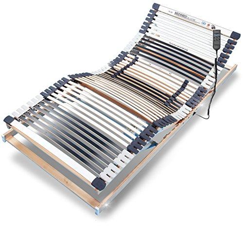 Ravensberger MEDIMED orthopädischer 7-Zonen-Lattenrost , elektrisch verstellbar, Lattenrahmen aus Buche mit 44 Leisten 100x200 cm, LGA und TÜV geprüft