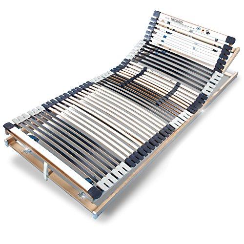 Ravensberger MEDIMED orthopädischer 7-Zonen-Lattenrost, verstellbar, klappbar, Lattenrahmen aus Buche mit 44 Leisten 140x220 cm, LGA und TÜV geprüft