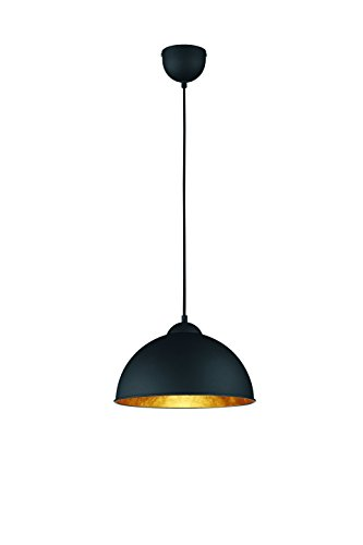 Reality-Leuchten-Pendelleuchte-Hngeleuchte-1-x-E27-ohne-Leuchtmittel-Durchmesser-31-cm-Auen-schwarz-Innen-gold-farbig-R30121002-0