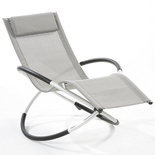 Relax-Gartenliege-Schaukelliege-Gartenliege-Sonnenliege-grau-kariert-Aluminium-Gestell-155-x-98-x-84-cm-0