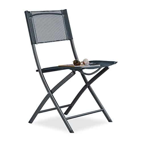 Relaxdays-Klappstuhl-Balkon-Metall-Kunststoff-Gartenstuhl-HxBxT-87-x-55-x-485-cm-Balkonklappstuhl-anthrazit-grau-0