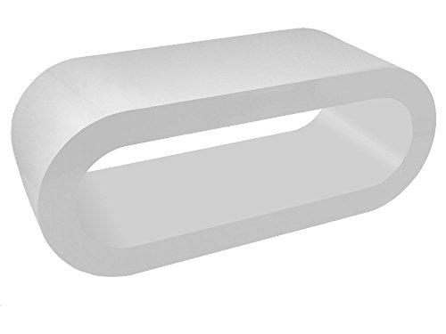Retro Alle Weiß Reifen Couchtisch / TV-Ständer In Verschiedenen Größen
