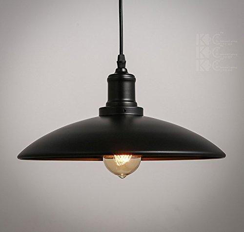 Retro-Industrielampe-Hngeleuchte-Lampenschirm-Hhenverstellbar-Elegante-Regenschirm-Form-315cm-16cm-schwarz-0