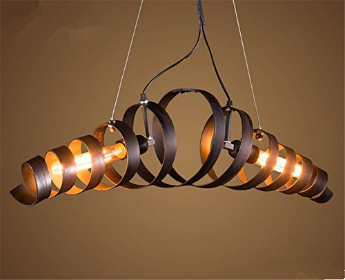 Retro Industry Design Pendelleuchte im Loft-Style, Esszimmer Vintage Retro Hängeleuchte Lampe,Wohnzimmer kronleuchter,2 X E27, Ø 68 cm