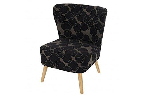 Retro-Sessel-Polstersessel-schwarz-grau-gemustert-Loungesesel-Vintage-Design-0
