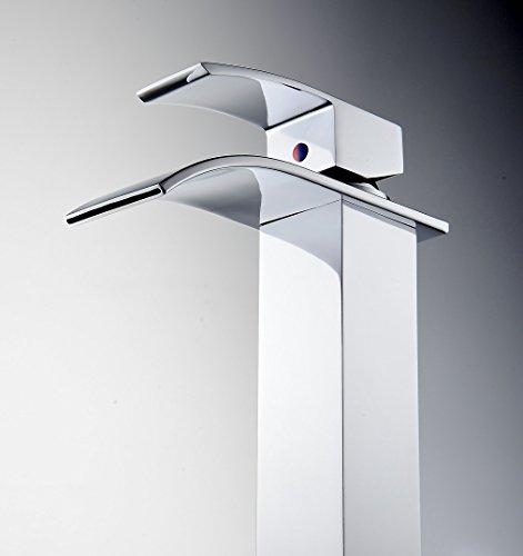 Rixow-Design-Einhebel-Wasserhahn-Armatur-Waschtischarmatur-Wasserfall-Einhandmischer-fr-Badezimmer-Waschbecken-0