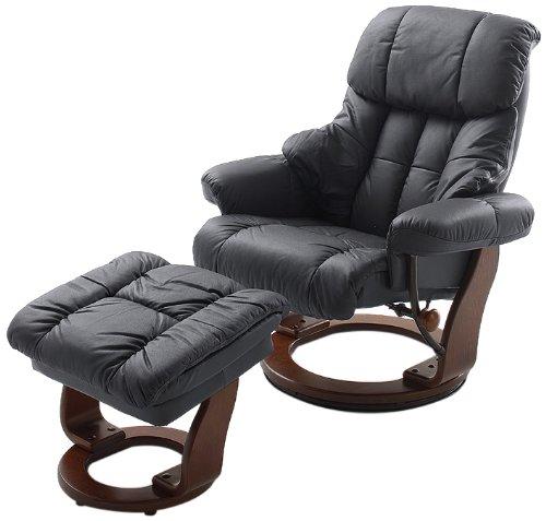 Robas-Lund-64023SK5-Relaxsessel-Calgary-mit-Hocker-Bezug-Leder-schwarz-Gestell-Walnuss-90-x-91-122-x-89-104-cm-0