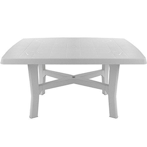 Robuster Gartentisch 138x88cm rechteckige Tischplatte Beistelltisch Campingtisch Balkontisch Terrassentisch Kunststofftisch Gartenmöbel Balkonmöbel Campingmöbel Terrassenmöbel Kunststoff