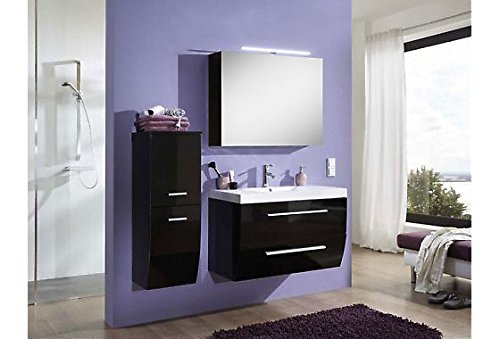 sam badm bel set salzburg deluxe in hochglanz schwarz 90. Black Bedroom Furniture Sets. Home Design Ideas