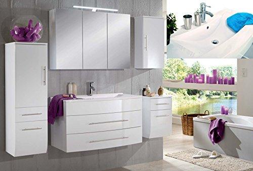SAM-Badmbel-Set-Zrich-100-cm-in-Hochglanz-wei-5tlg-Badezimmer-mit-Softclose-Funktion-1-Waschplatz-mit-Mineralgussbecken-wei-1-Spiegelschrank-1-Hochschrank-1-Unterschrank-1-Hngeschrank-0