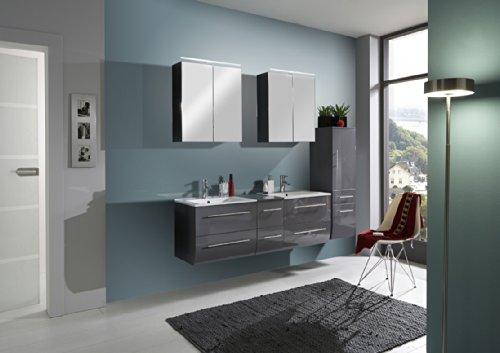SAM-Badmbel-Set-Zrich-150-cm-Hochglanz-grau-3tlg-Badezimmer-mit-Softclose-Funktion-1-Doppel-Waschplatz-mit-Keramikbecken-2-Spiegelschrnke-1-Hochschrank-0