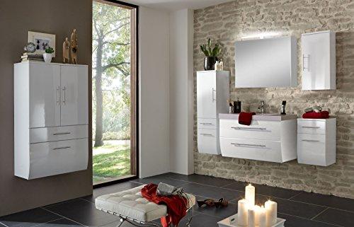 SAM-Badmbel-Set-Zrich-90-cm-in-Hochglanz-wei-6tlg-Badezimmer-mit-Softclose-Funktion-1-Waschplatz-1-Spiegelschrank-Deluxe-1-Hochschrank-1-breiter-Hochschrank-1-Unterschrank-1-Hngeschrank-0