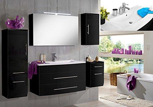 SAM-Badmbel-Set-Zrich-Deluxe-100-cm-in-Hochglanz-schwarz-5tlg-mit-Softclose-Funktion-1-Waschplatz-mit-Mineralgussbecken-wei-1-Spiegelschrank-1-Hochschrank-1-Unterschrank-1-Hngeschrank-0