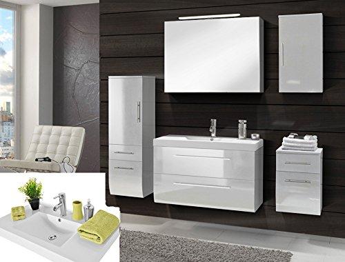 SAM-Badmbel-Set-Zrich-Deluxe-90-cm-in-Hochglanz-wei-5tlg-mit-Softclose-Funktion-1-Waschplatz-mit-Mineralgussbecken-1-Spiegelschrank-1-Hochschrank-1-Unterschrank-1-Hngeschrank-0
