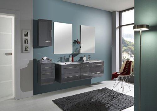 SAM-Badmbel-Set-Zrich-light-150-cm-Hochglanz-grau-4tlg-Badezimmer-mit-Softclose-Funktion-1-Doppel-Waschplatz-mit-Keramikbecken-2-Spiegel-1-Unterschrank-1-Hngeschrank-0