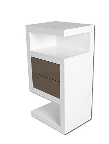 SAM-Boxspring-Nachtkonsole-Neomi-Links-wei-Hochglanz-lackiert-40-cm-breit-rollbar-zwei-Schubladen-Lieferung-erfolgt-zerlegt-per-Paketdienst-0