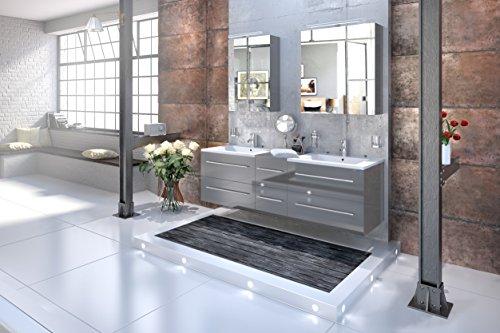 SAM-Design-Badmbel-Set-Barcelona-3tlg-Hochglanz-grau-150-cm-Breite-Schubladen-mit-Softclosefunktion-Badezimmer-Set-bestehend-aus-2-x-Spiegelschrank-1-x-Doppelwaschplatz-0