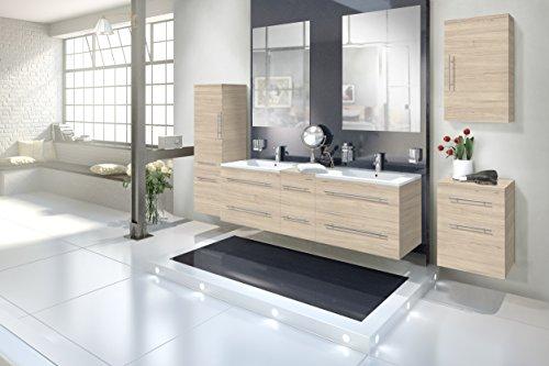 SAM-Design-Badmbel-Set-Barcelona-6tlg-in-Sonomaeiche-150-cm-mit-Softclosefunktion-bestehend-aus-2-x-Spiegel-1-x-Doppelwaschplatz-1-x-Hngeschrank-1-x-Unterschrank-1-x-Hochschrank-0