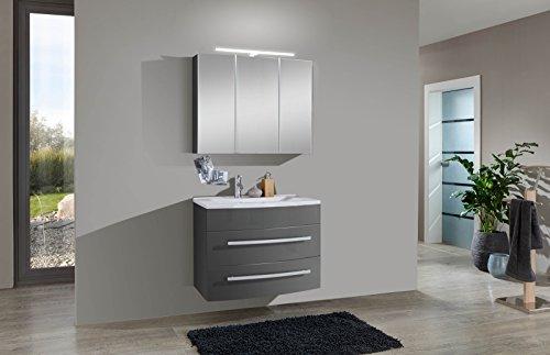 SAM-Design-Badmbel-Set-Genf-2tlg-in-grau-70-cm-Breite-Mineralgussbecken-Tren-und-Schubladen-mit-Softclose-Funktion-Badezimmer-Set-bestehend-aus-1-x-Spiegelschrank-1-x-Waschplatz-0