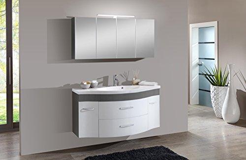 SAM-Design-Badmbel-Set-Lugano-2tlg-in-wei-grau-130-cm-Breite-Mineralgussbecken-Softclose-Funktion-Set-aus-1-x-Spiegelschrank-1-x-Waschplatz-0