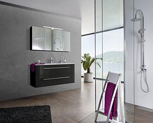 SAM-Design-Badmbel-Set-Verena-120-cm-in-Hochglanz-schwarz-2tlg-Designer-Badezimmer-mit-Softclose-Funktion-1-Waschplatz-2-Spiegelschrank-0