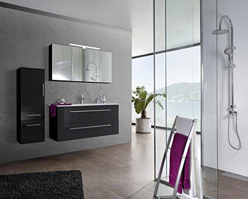 SAM-Design-Badmbel-Set-Verena-120-cm-in-Hochglanz-schwarz-3tlg-Designer-Badezimmer-mit-Softclose-Funktion-1-Waschplatz-2-Spiegelschrank-1-Hochschrank-0