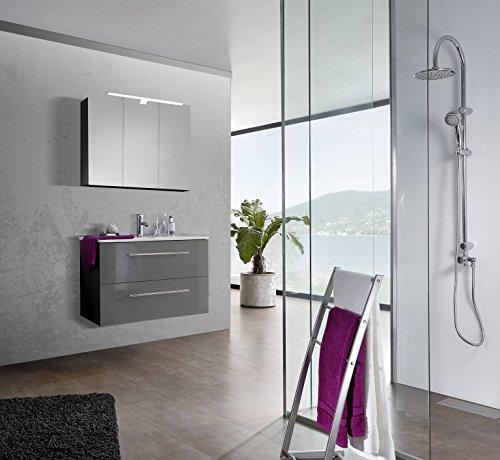SAM-Design-Badmbel-Set-Verena-90-cm-in-Hochglanz-grau-2tlg-Designer-Badezimmer-mit-Softclose-Funktion-1-Waschplatz-1-Spiegelschrank-0