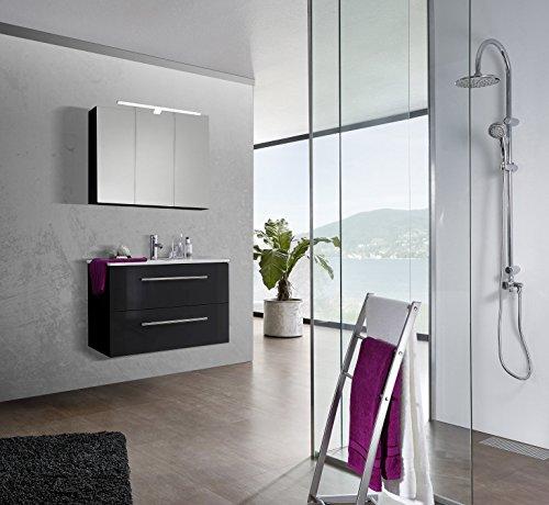 SAM-Design-Badmbel-Set-Verena-90-cm-in-Hochglanz-schwarz-2tlg-Designer-Badezimmer-mit-Softclose-Funktion-1-Waschplatz-1-Spiegelschrank-0
