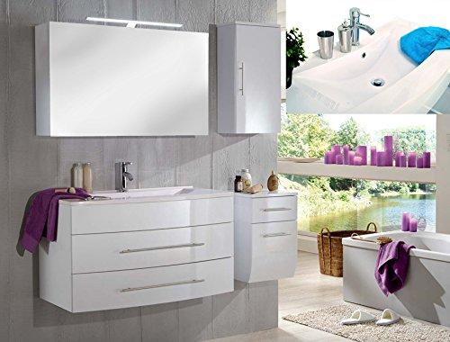 SAM-Design-Badmbel-Set-Zrich-Deluxe-100-cm-in-Hochglanz-wei-4tlg-Badezimmer-mit-Softclose-Funktion-1-Waschplatz-mit-Mineralgussbecken-wei-1-Spiegelschrank-1-Unterschrank-1-Hngeschrank-0