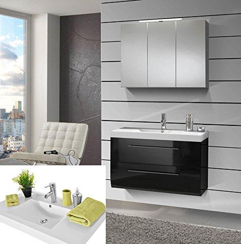 SAM-Design-Badmbel-Set-Zrich-SS-90-cm-in-Hochglanz-wei-2tlg-Designer-Badezimmer-mit-Softclose-Funktion-1-Waschplatz-mit-Mineralgussbecken-und-1-Spiegelschrank-0