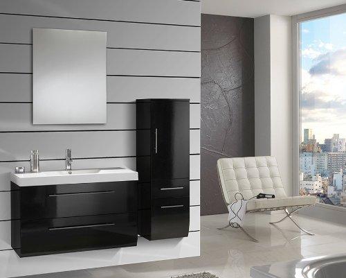 SAM-Design-Badmbel-Set-Zrich-light-100-cm-in-Hochglanz-schwarz-3tlg-Designer-Badezimmer-mit-Softclose-Funktion-1-Waschplatz-mit-Mineralgussbecken-wei-1-Spiegel-und-1-Hochschrank-0