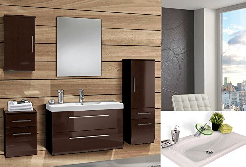 sam design badm bel set z rich light in grau 5 teilig exklusives badezimmer komplett hochglanz. Black Bedroom Furniture Sets. Home Design Ideas