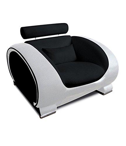 SAM-Design-Couch-Sofa-Wohnzimmer-Lounge-Sessel-Vigo-108-cm-Sitzflche-in-schwarz-wei-mit-bequemen-Armlehnen-mit-Samolux-Bezug-mit-edlen-chromfarbenen-Fen-0
