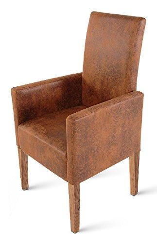 SAM-Esszimmer-Armlehnstuhl-Relaxsessel-Trevi-in-brauner-Wildlederoptik-SAMOLUX-Bezug-Stuhl-mit-Pinienholz-Beinen-in-stone-Esszimmerstuhl-mit-angenehmer-Polsterung-fr-hohen-Sitzkomfort-0