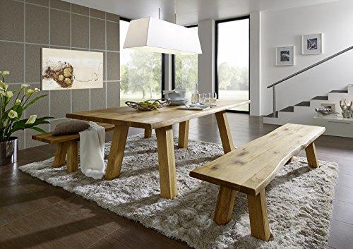 SAM-Esszimmertischgruppe-Bergen-1-x-Tisch-200-cm-2-x-Sitzbank-Wildeiche-gelt-Lieferung-per-Spedition-0